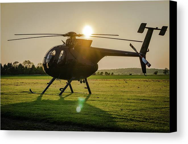 Helicopter Canvas Print featuring the photograph Whirly Bird by General Red Photography