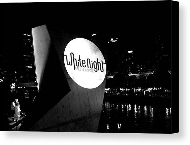 White Night Melbourne Canvas Print featuring the photograph White Night Melbourne by Win Naing