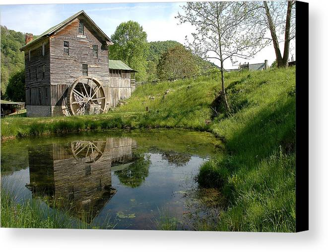 Mill Canvas Print featuring the photograph White's Mill by Alan Lenk