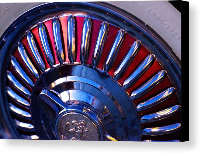 Whitewall Tire Canvas Print featuring the photograph Whitewall Roulette by Richard Henne