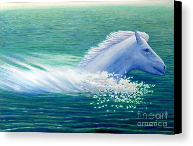 Horse Canvas Print featuring the painting Will Power by Brian Commerford