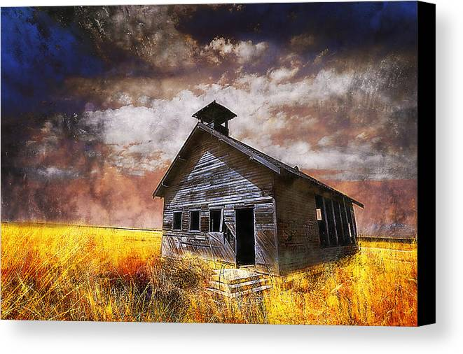 House Canvas Print featuring the photograph Will This Be The Way Of Education In The Us by Jeff Burgess