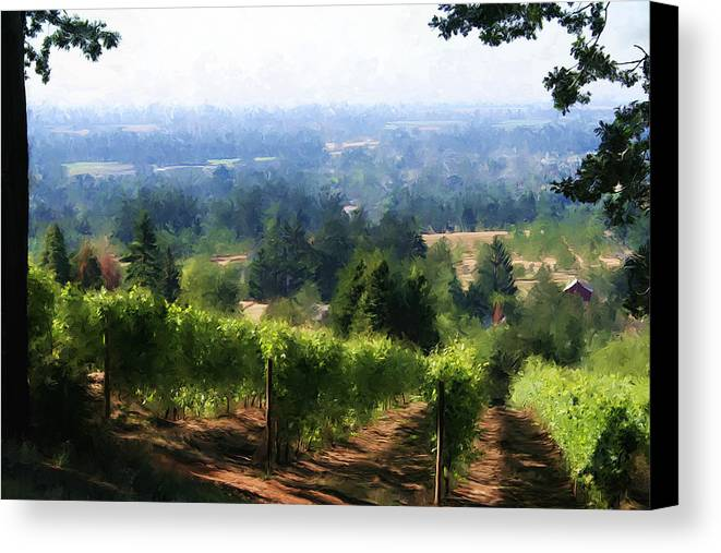 Wine Canvas Print featuring the photograph Wine Country by Sherrie Triest