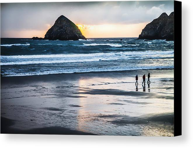 Beach Canvas Print featuring the photograph Winter Beach Stroll by Jim Young