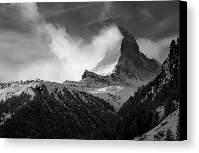 Matterhorn Canvas Print featuring the photograph Wonder Of The Alps by Neil Shapiro