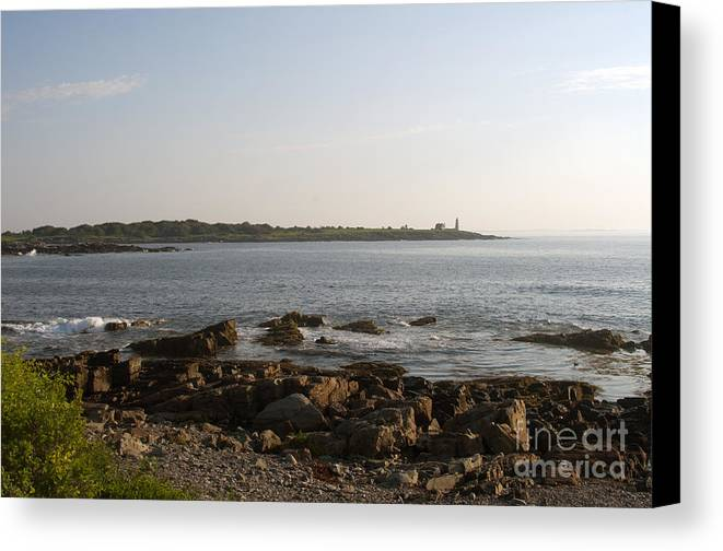 Wood Canvas Print featuring the photograph Wood Island Lighthouse 1 by Ray Konopaske
