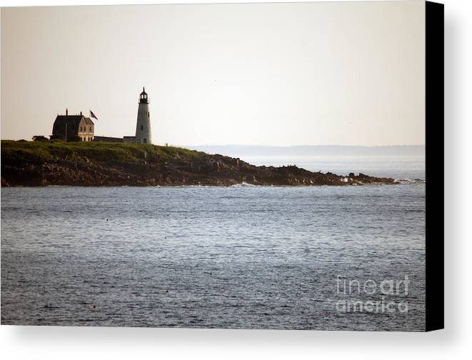 Light Canvas Print featuring the photograph Wood Island Lighthouse 2 by Ray Konopaske