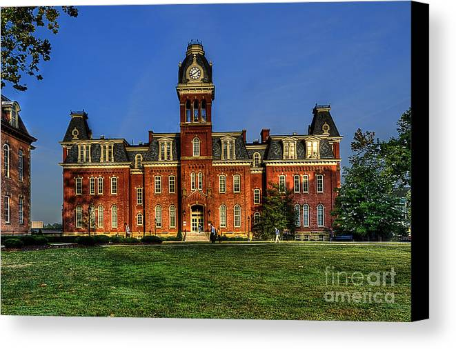 Woodburn Hall Canvas Print featuring the photograph Woodburn Hall In Morning by Dan Friend