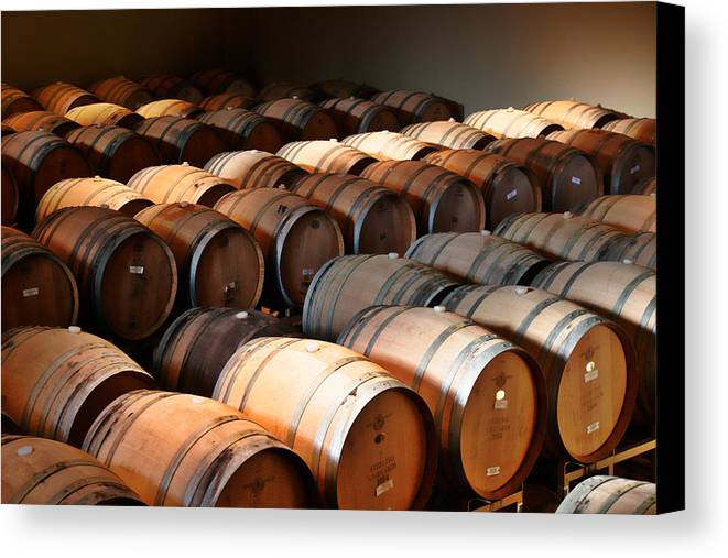 Wine Canvas Print featuring the photograph World-class Wine Is Made In California by Christine Till