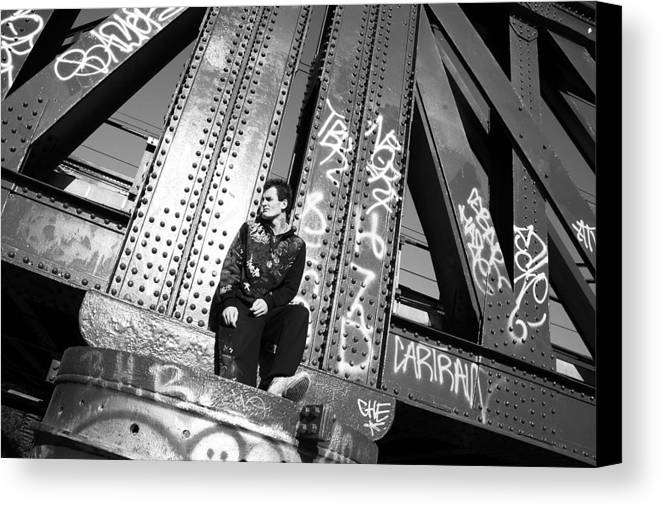 Photographer Canvas Print featuring the photograph Wrong Thoughts 2 by Jez C Self