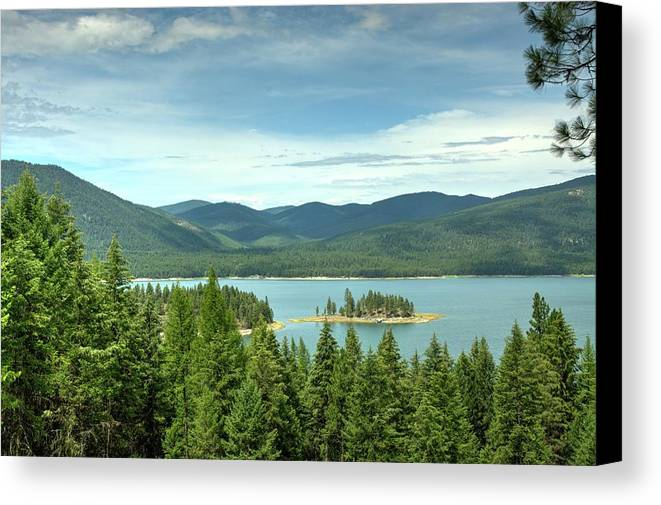 Landscape Canvas Print featuring the photograph Yarnell Islands by Constance Puttkemery