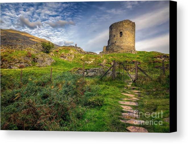 Castle Canvas Print featuring the photograph Ye Olde Path by Adrian Evans