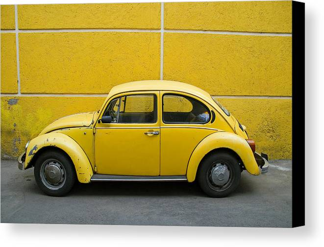 Yellow Canvas Print featuring the photograph Yellow Bug by Skip Hunt