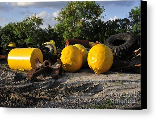 Yellow Canvas Print featuring the photograph Yellow by David Lee Thompson