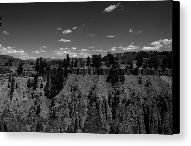 Yellowstone Canvas Print featuring the photograph Yellowstone Canyon by Klaire Dixius
