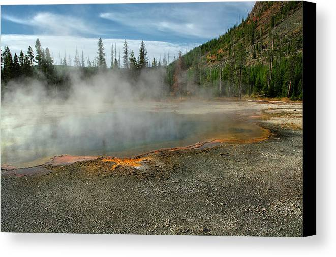Yellowstone Canvas Print featuring the photograph Yellowstone Colors #5 by Scott Read