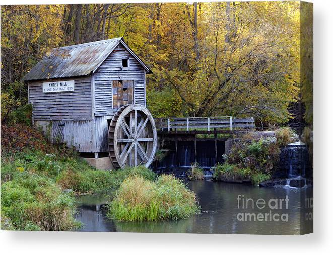 Hyde Canvas Print featuring the photograph 0290 Hyde's Mill Wisconsin by Steve Sturgill