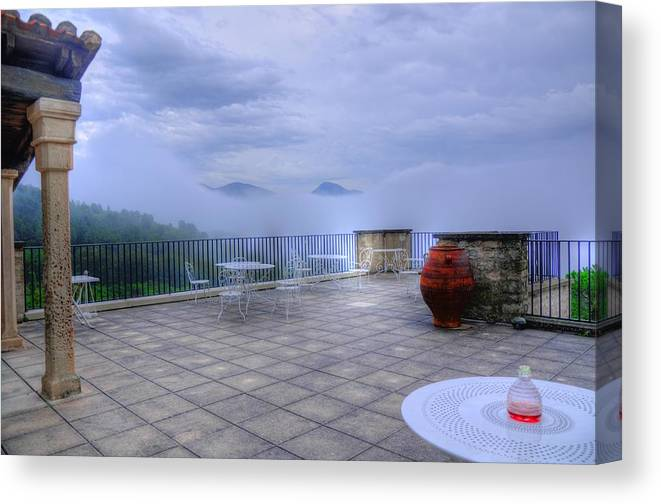 Clouds Canvas Print featuring the photograph Alps South France by Seruddin Salleh
