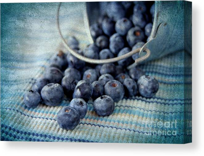Texture Canvas Print featuring the photograph Blueberries by Darren Fisher