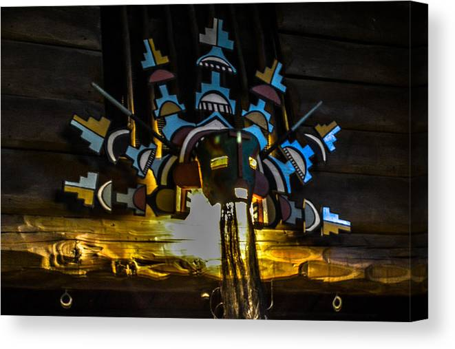Arizona Canvas Print featuring the photograph Bright Angel Lodge by Pamela Schreckengost