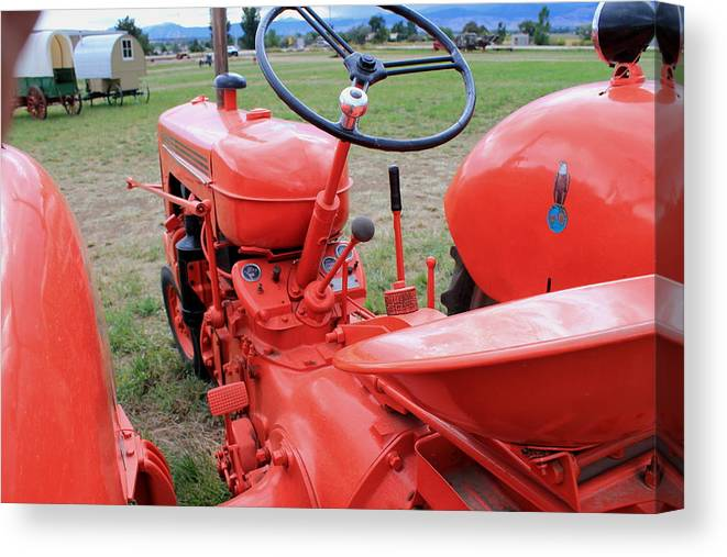 Driver Canvas Print featuring the photograph Case Tractor by Trent Mallett