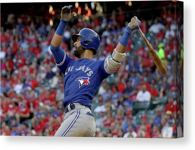 Three Quarter Length Canvas Print featuring the photograph Division Series - Toronto Blue Jays V by Ronald Martinez