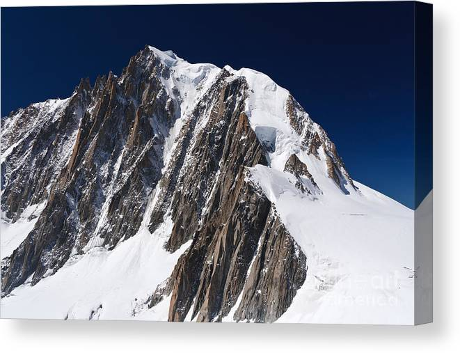 Alpine Canvas Print featuring the photograph Mont Blanc Massif by Antonio Scarpi