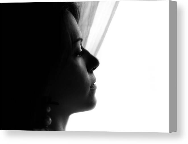 Portrait Photographs Canvas Print featuring the photograph Nancy by Andrea Mazzocchetti