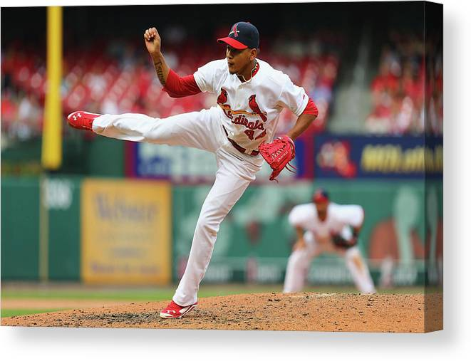 St. Louis Cardinals Canvas Print featuring the photograph Pittsburgh Pirates V St. Louis Cardinals by Dilip Vishwanat