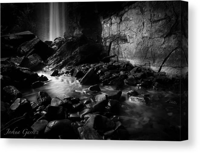 Black And White Canvas Print featuring the photograph Ranger Falls by Joshua Garrett