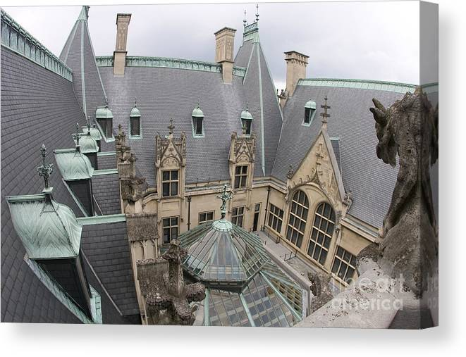 Biltmore Estate Canvas Print featuring the photograph Roof Of Biltmore Estate by Jason O Watson