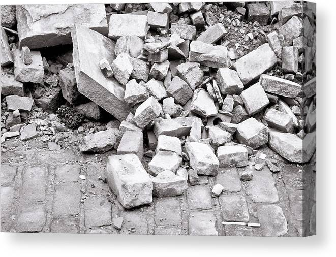 Abstract Canvas Print featuring the photograph Rubble by Tom Gowanlock