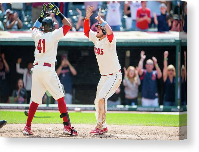 Ninth Inning Canvas Print featuring the photograph Tampa Bay Rays V Cleveland Indians 1 by Jason Miller