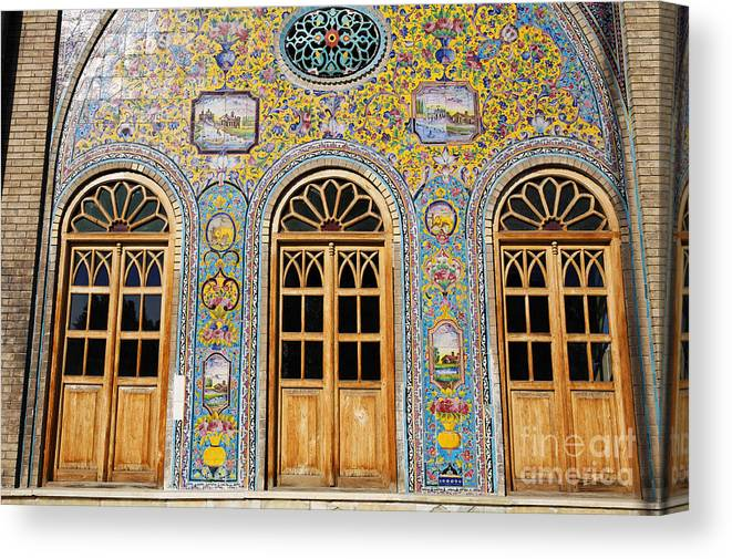 Iran Canvas Print featuring the photograph The Golestan Palace In Tehran Iran by Robert Preston