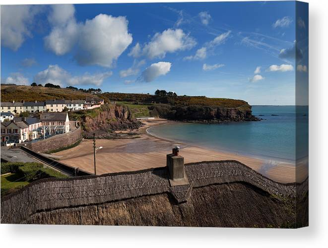 Photography Canvas Print featuring the photograph The Strand Inn And Dunmore Strand by Panoramic Images