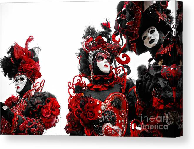 Carnaval Canvas Print featuring the photograph Venice Masks by Luciano Mortula