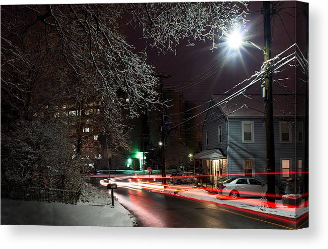 Canvas Print featuring the photograph Westchester Avenue by Dana Sohr