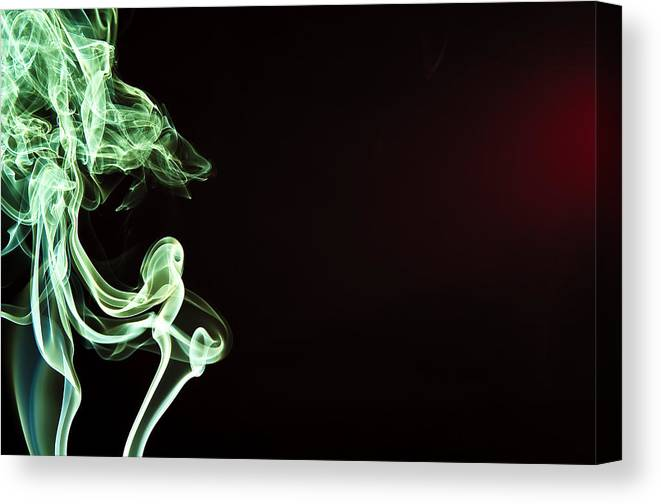 Smoke Canvas Print featuring the photograph Colored Smoke by Rashad Penn