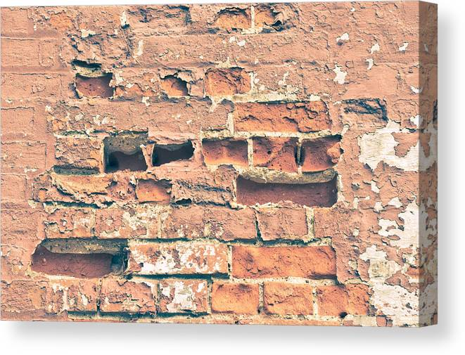 Absent Canvas Print featuring the photograph Brick Wall by Tom Gowanlock