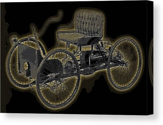 1896 Quadricycle Henry Fords First Car Canvas Print