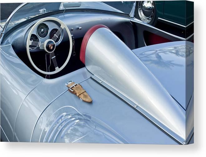 1955 Porsche Spyder Canvas Print featuring the photograph 1955 Porsche Spyder by Jill Reger