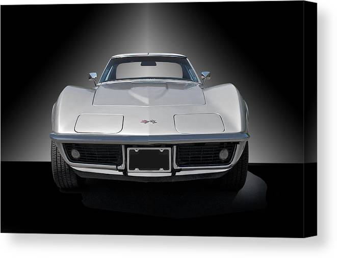 Auto Canvas Print featuring the photograph 1970 Corvette Stingray Studio by Dave Koontz
