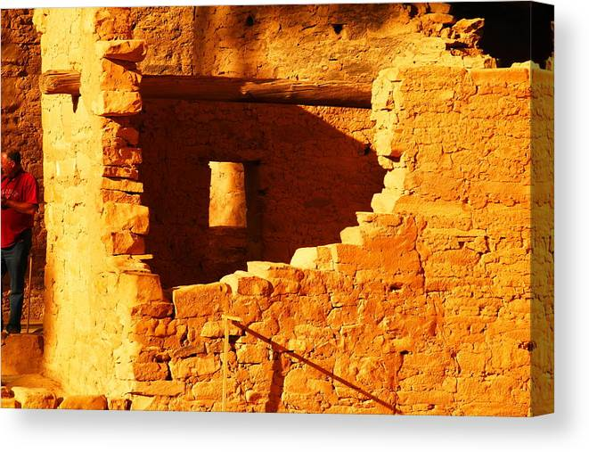 Architecture Canvas Print featuring the photograph Anasazi Ruins by Jeff Swan