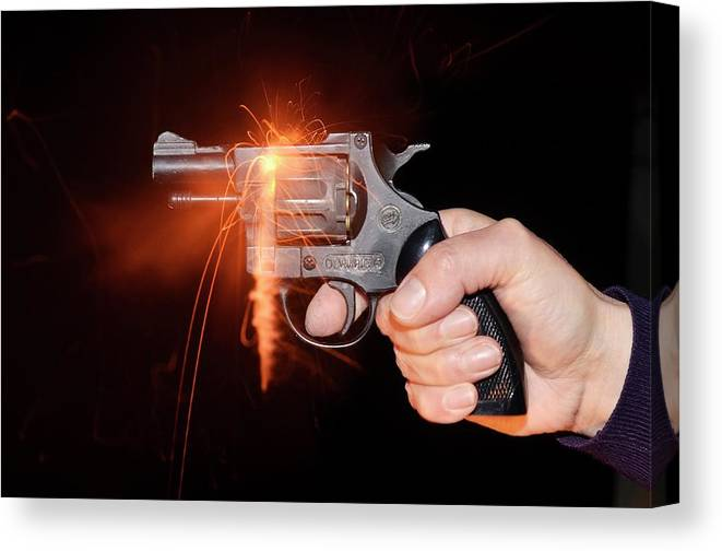 Blank-firing Revolver Canvas Print