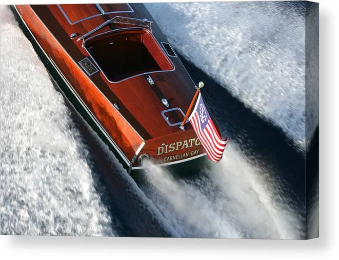 Riva Canvas Print featuring the photograph Classic Gar Wood Runabout by Steven Lapkin