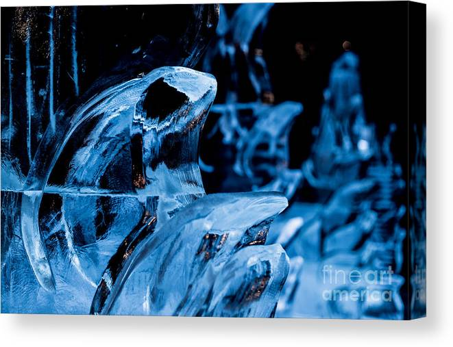 2015 Canvas Print featuring the photograph Icicles by Franz Zarda