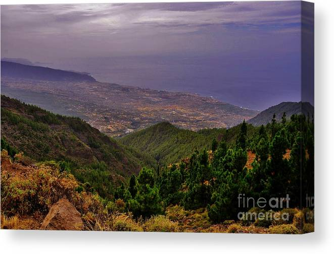 Amazing Colors Canvas Print featuring the photograph Landscape Amazing Colors Mountains by Bozena Simeth