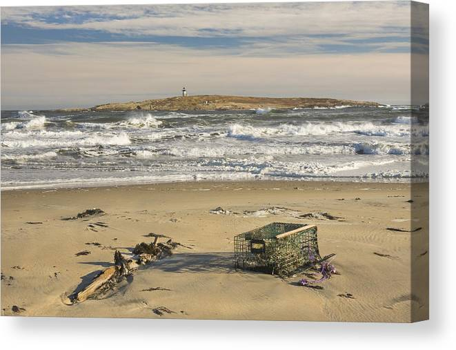 Maine Canvas Print featuring the photograph Popham Beach On The Maine Coast 3 by Keith Webber Jr