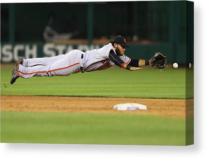 Ninth Inning Canvas Print featuring the photograph San Francisco Giants V St. Louis by Dilip Vishwanat