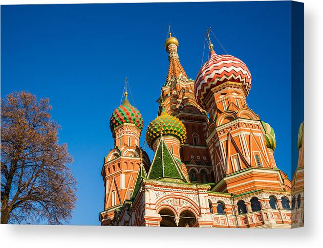 Architecture Canvas Print featuring the photograph St. Basil's Cathedral by Alexander Senin